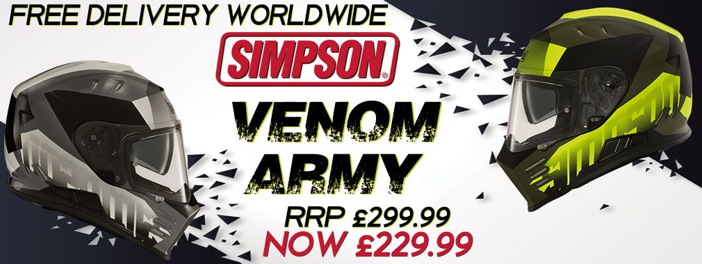 Simpson Helmet Venom Army Offer