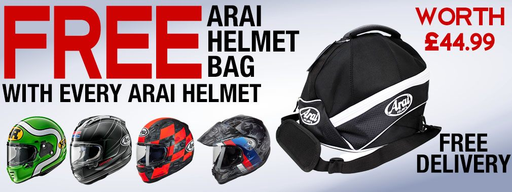Arai Helmet Offer Free Helmet Bag