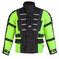 Spada Kids Textile Jacket Attitude (Black/Fluorescent Yellow)