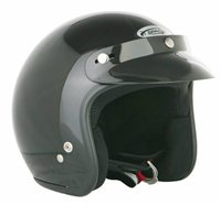Spada Helmet Open Face Plain Black
