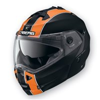 Caberg  Duke Legend Flip Front Helmet  (Matt Black/Orange)