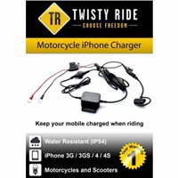 Twisty Ride  Ride iPhone 3G/4/4S Charger (M/C & Scooters)