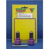 Velo Sport  Sport Handlebar End Weight-Purple Pair [HEW007]