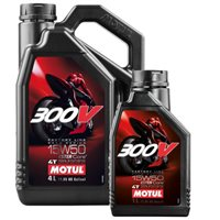 MOTUL 300V 15W50 Factory Line Race 100% Synthetic Oil