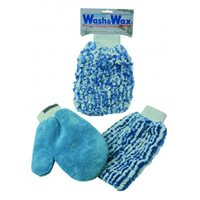 Wash & Wax Cleaning & Polishing Mitts by Oxford