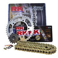RK Chain & Sprocket Kit - Just choose chain Quality and Bike Size