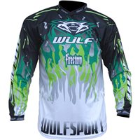 Wulfsport Crossfire Race Shirt Green