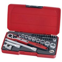 "Teng 34 Piece 3/8"" Drive Socket Tool Set Box Kit & Ratchet - T3834"