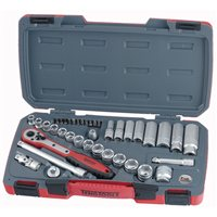 "Teng 3/8"" Drive Ratchet Regular Deep Metric 39 Piece Socket Set-T3839"