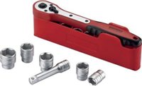 "Teng 1/2"" Drive Ratchet & Socket Set 8-24mm in plastic tray 12 Piece-M1212N1"