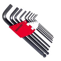 Teng 9 Piece Metric Ball Point Hex Allen Key Set - 1479mm