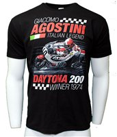 "Retro Agostini Daytona 200 ""winner 1974"" T-Shirt"