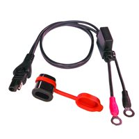 Optimate Weatherproof SAE 01 Compatible Eyelet Battery Lead