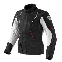 Revit Monroe Ladies Textile Motorcycle Jacket (Black-Silver)