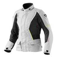 Revit Monroe Ladies Textile Motorcycle Jacket (Silver-Black)
