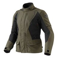 Revit Monroe Ladies Textile Motorcycle Jacket  (Olive Green-Black)