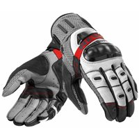 Revit Cayenne Pro Leather Motorcycle Gloves (Grey/Red)