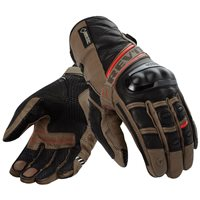 Revit Motorcycle Gloves Dominator GTX (Sand-Red Gore-Tex Gloves)