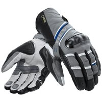 Revit Motorcycle Gloves Dominator GTX (Grey-Blue Gore-Tex Gloves)