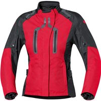 Held XENNA Womens Motorcycle Jackets (Black/Red)