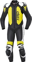 Held Slade One Piece Motorcycle Leathers (Black-Fluorescent Yellow)