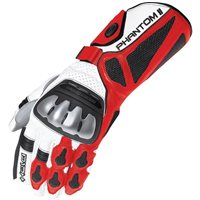 Held Phantom II Motorcycle Gloves (White/Red)