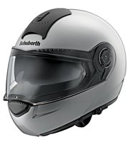 Schuberth C3 Basic Flip Up Motorcycle Helmet (Silver)