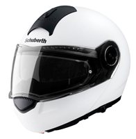 Schuberth C3 Basic Flip Front Motorcycle Helmet (White) **20% Off Matching Intercom System**