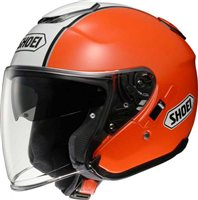 Shoei  J-Cruise CORSO TC-8 Open Faced Helmet (Orange/White)
