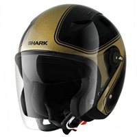 Shark RSJ SASSY Open Faced Helmets (Black/Gold)