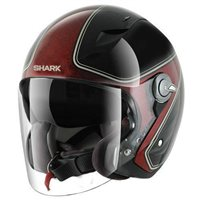 Shark RSJ SASSY Open Faced Helmets (Black/Red)