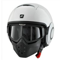 Shark RAW Open Faced Helmet (White)