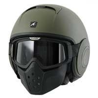 Shark RAW Open Faced Helmet (Matt Green)