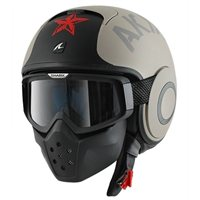 Shark RAW SOYOUZ Open Faced Helmet (Matt Beige/Black)
