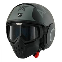 Shark RAW SOYOUZ Open Faced Helmet (Matt Black/Silver)