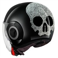 Shark Nano JEWEL Open Faced Helmet (Black/Silver/Glitter)