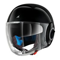 Shark Nano Blank Open Face Helmet (Black)