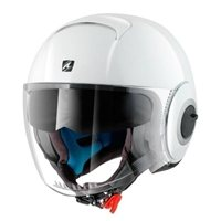 Shark Nano Blank Open Faced Helmet (White)