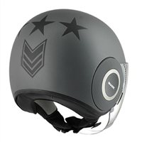 Shark Nano UNITED Open Faced Helmet (Matt Silver/Anthracite)