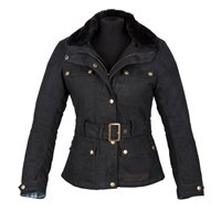 Spada Womens HARTBURY Wax Jacket (Black)