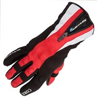Spada Ladies CORE Waterproof Motorcycle Gloves (Black/Red)