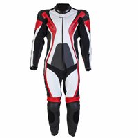 Spada CURVE One Piece Leather Suit (Black/Red/White)