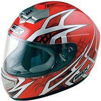 Box BX-1 WEB Motorcycle Helmet (Red)