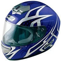 Box BX-1 WEB Motorcycle Helmet (Blue)