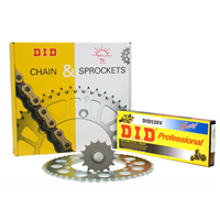 DID Chain & Sprocket Kit - Just choose Bike Size & Chain Quality