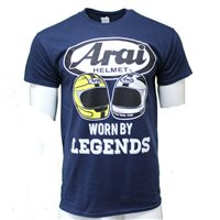 Arai Legends T-Shirt, Gildan Heavy Cotton Navy