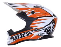 Wulfsport Cub Advance Kids Moto-X Helmet (Orange)
