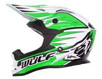 Wulfsport Cub Advance Kids Moto-X Helmet (Green)