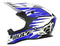 Wulfsport Cub Advance Kids Moto-X Helmet (Blue)