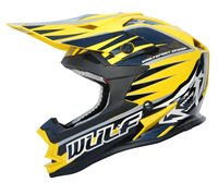 Wulfsport Cub Advance Kids Moto-X Helmet (Yellow)